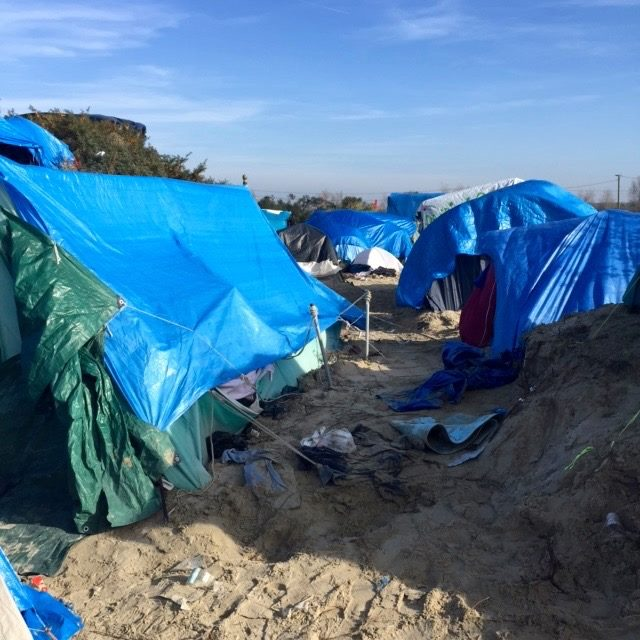The refugee camp in Calais (photo: Sarah Griffith/Facebook)